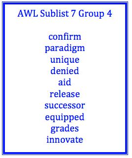 Academic Word List - Hartwig English