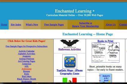 http://members.enchantedlearning.com/Home.html