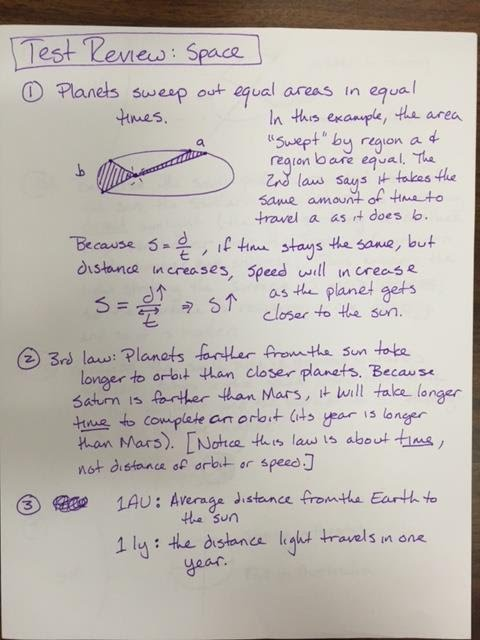 Space test review answer key - Ms  Pearce's 6th Grade Science Kealing MS