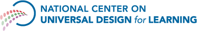National Center of Universal Design for Learning logo.