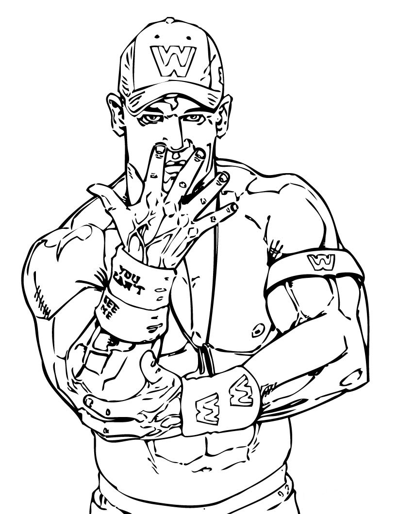 Free coloring pages for John cena coloring pages printable