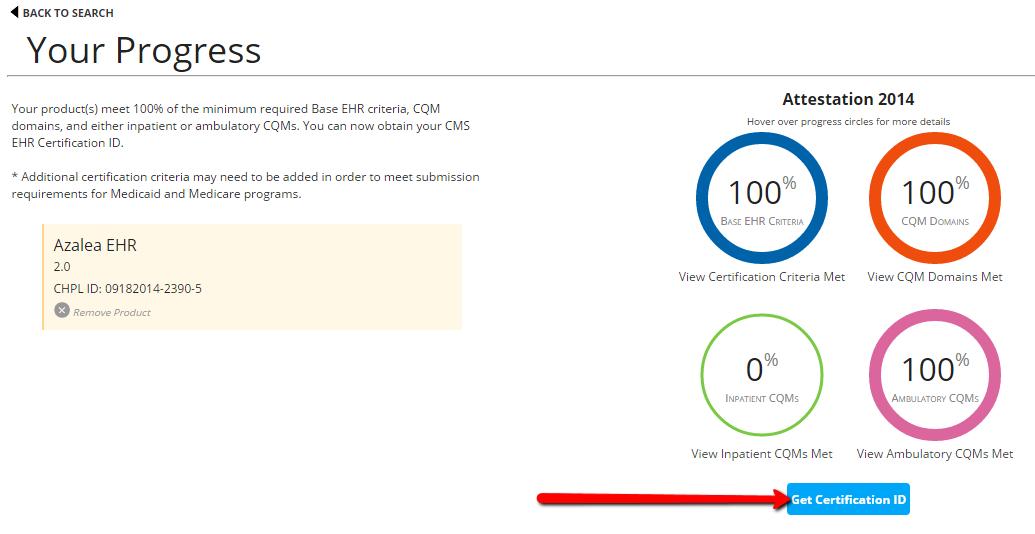 How Do I Obtain My Cms Ehr Certification Number Azalea Help