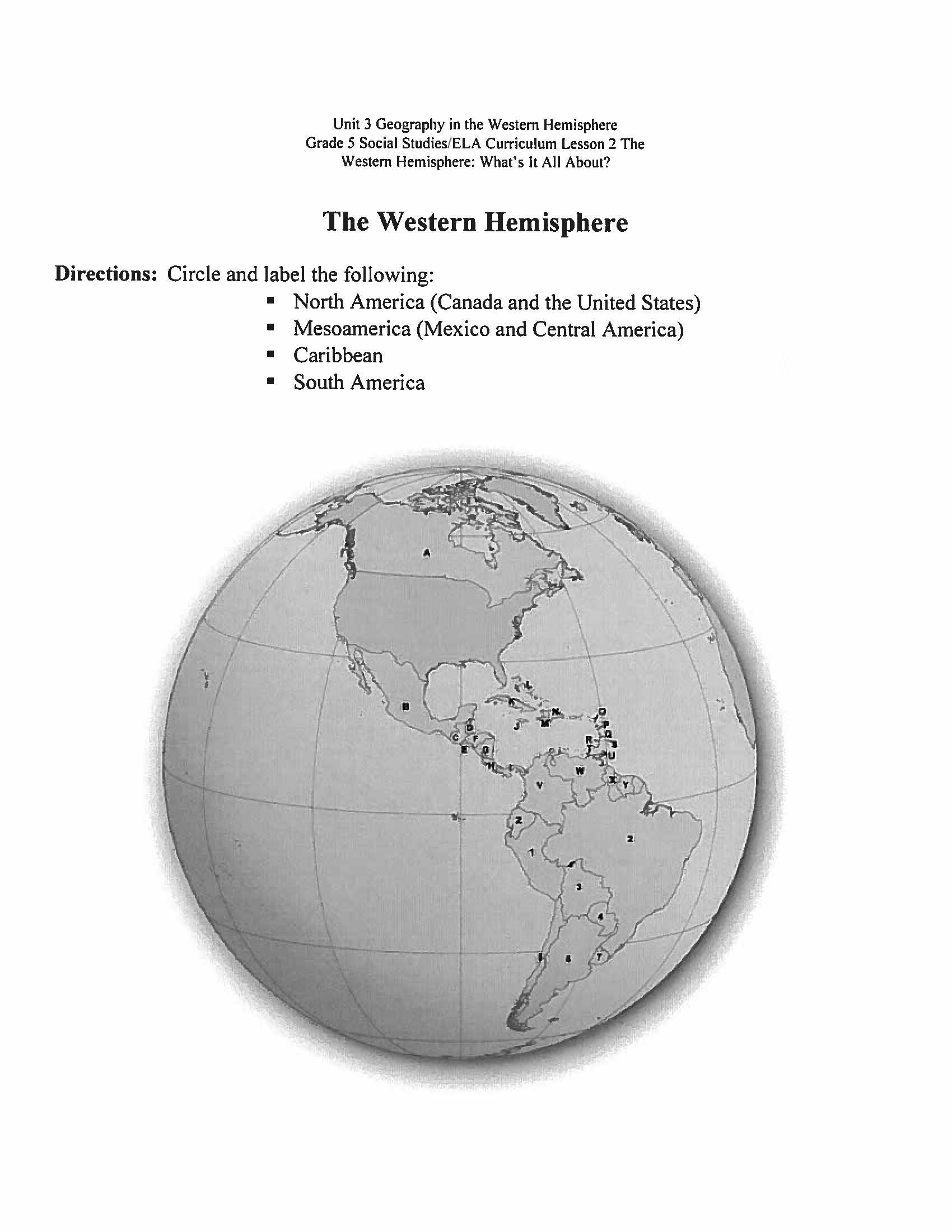 Archive Class Work Mr Rossi – Hemisphere Worksheet