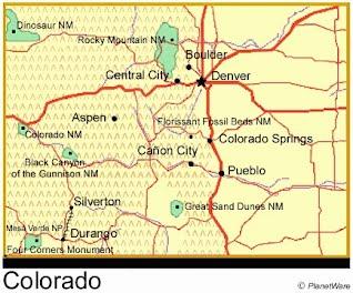 Physical Description Colorado - Colorado physical map