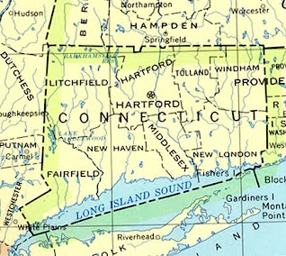geographical map of asia Geographical Features   Connecticut Colony Project 2013