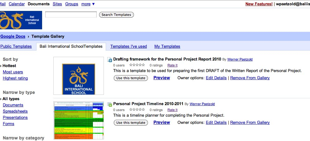 Writing About The Personal Project Personal Project - Google docs for personal use