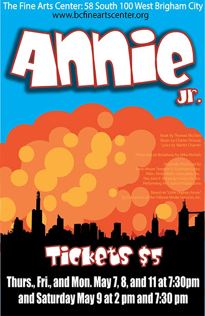 Brigham City Fine Arts Center Presents Annie Jr. The Musical - May 7, 8, 9 & 11!