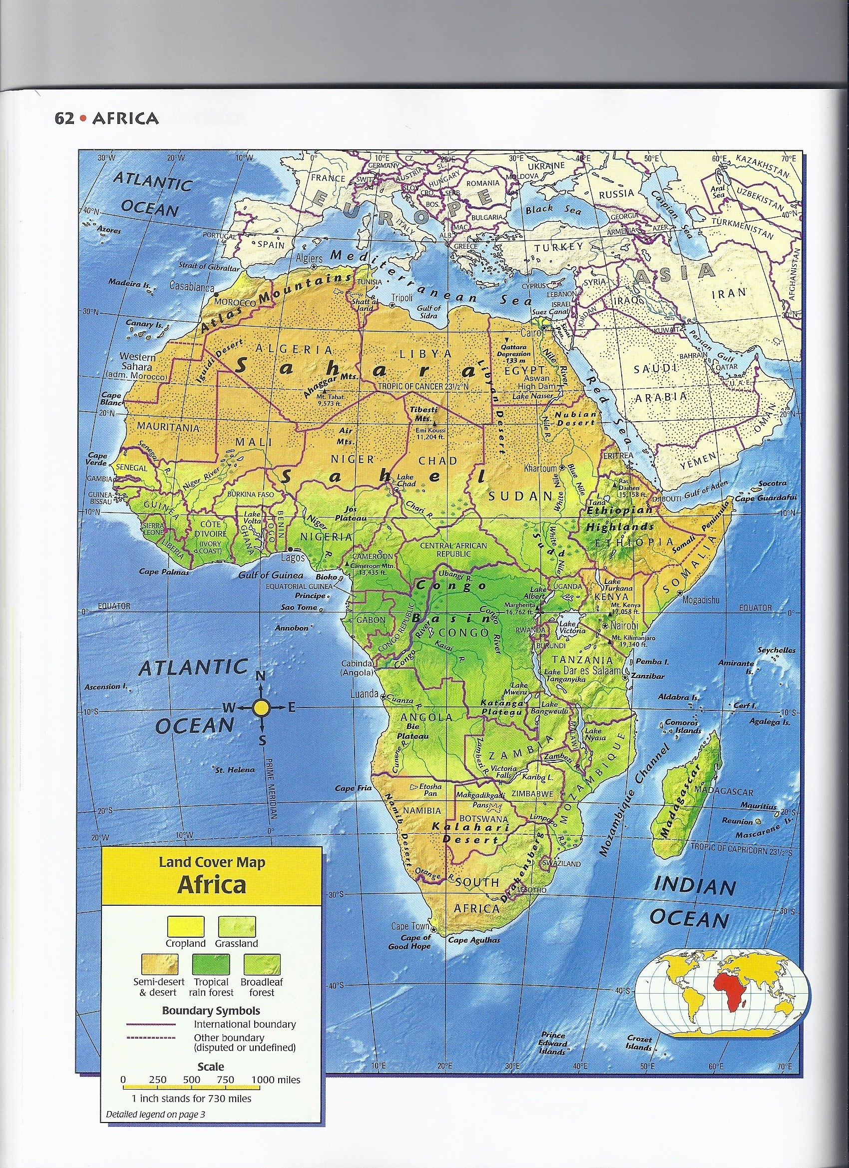 africa map cover photo