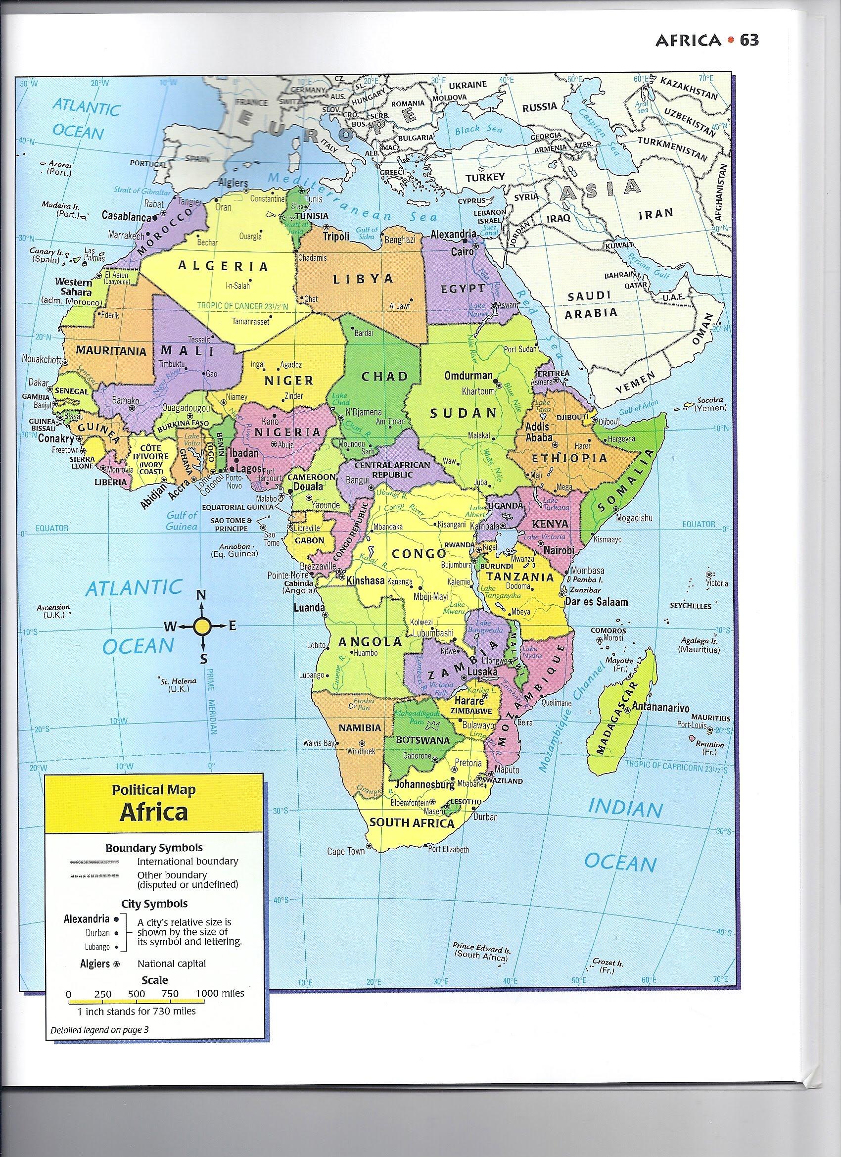 africa map assignment