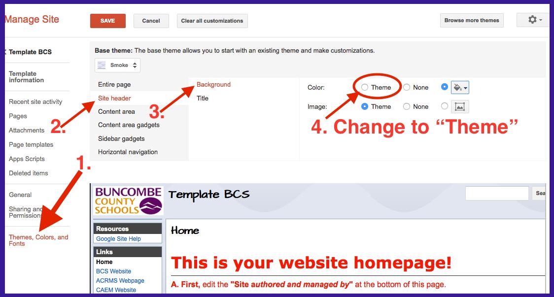 6. Share settings - BCS Google Site Help