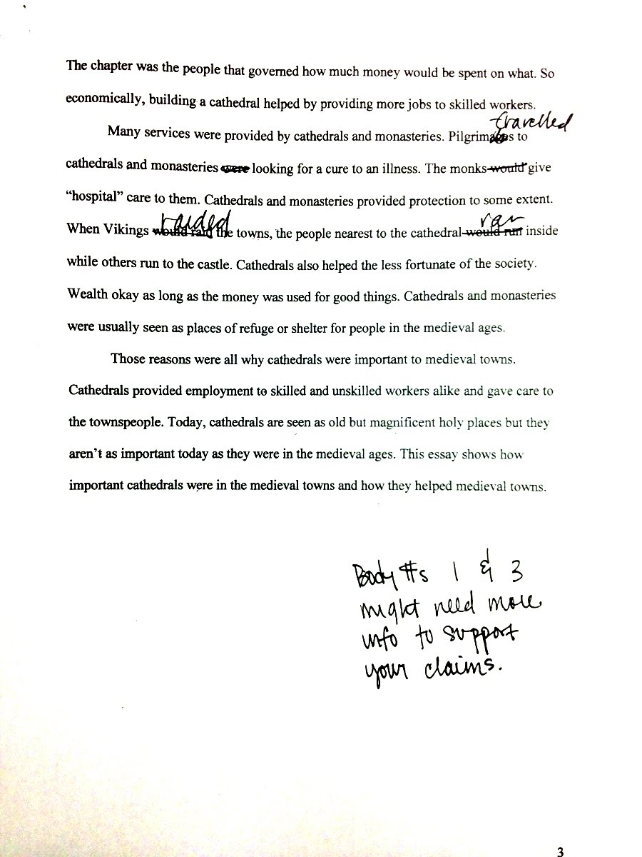 example of a rough draft essay