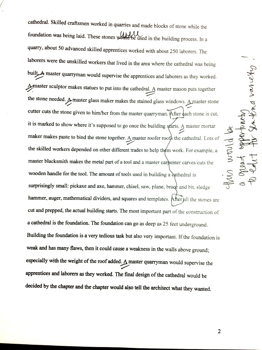 example of p essay template and final draft ms pinckney s website final draft research essay page 2