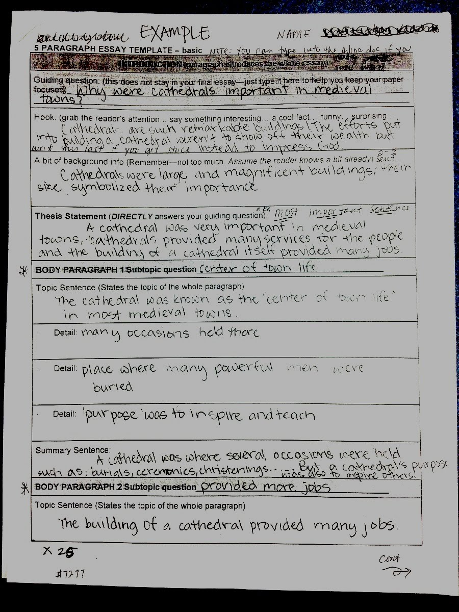 example of p essay template and final draft ms pinckney s website