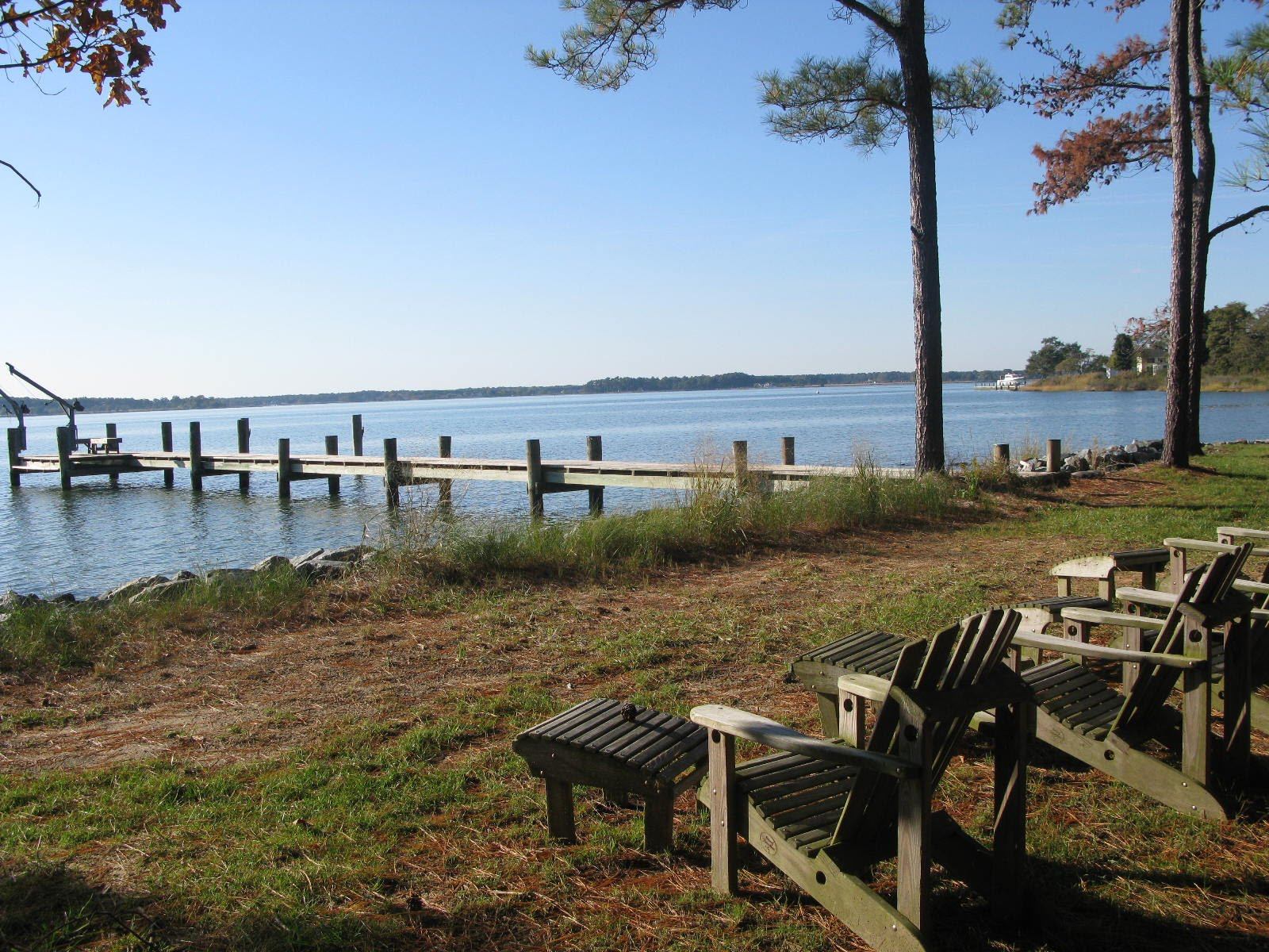 The Sandy Pines dock is a great place to fish.
