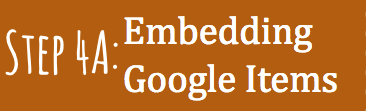 Step 4(a): Embedding Google Artifact