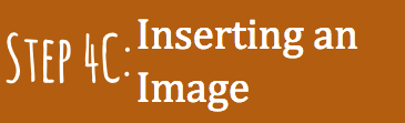 Step 4(c): Inserting an Image