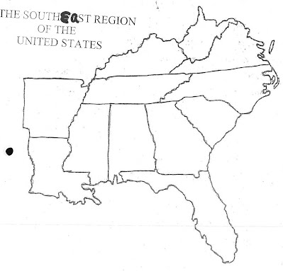 Coloring Pages Southeast Region Us Regions Interactive Notebook - West us blank map