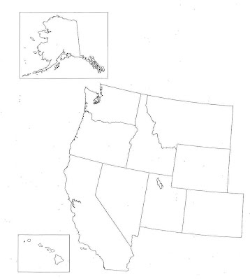 The West Region By Caroline Plummer ThingLink Map Of The West My - Blank map of western us