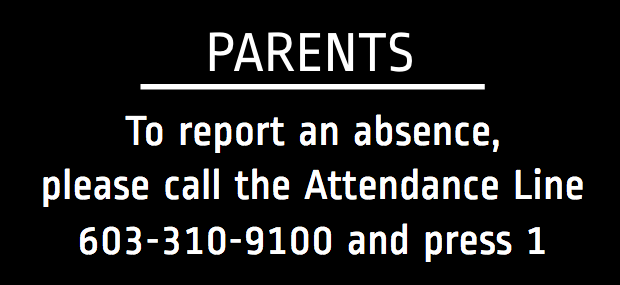 absent student? call 6033109100 press 1