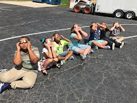 District #118 students viewing the solar eclipse