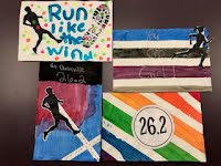 Artwork created by students for Belleville Marathon