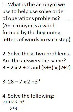 Lesson 3 2 Investigation 2-3 - Order of Operations - BCMS