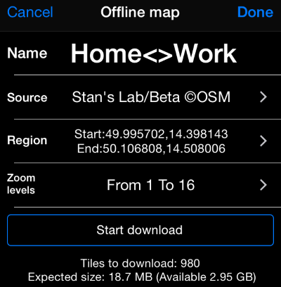 Planimeter 55  Offline maps  - speedohelp