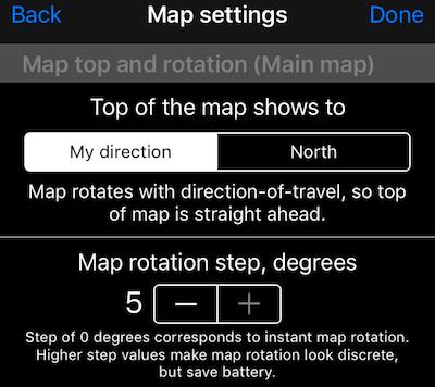 Common map settings - speedohelp