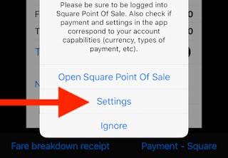 Square Point Of Sale app integration settings  - speedohelp