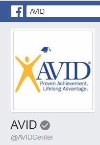 https://www.facebook.com/AVIDCenter