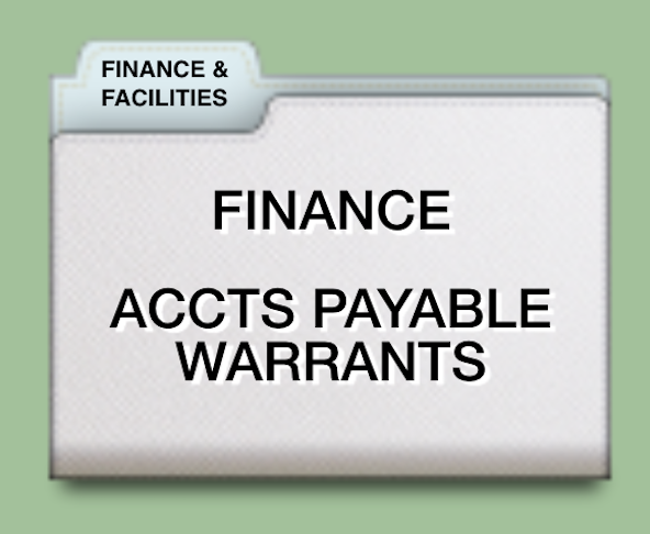 ACCOUNTS PAYABLE WARRANTS 2016-2017