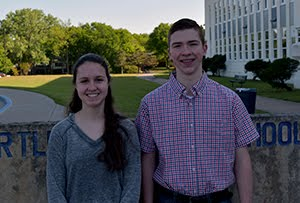 March Sophomore Students of the Month, Sophomores, Julia Fodor & William Pattison