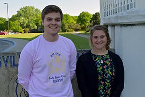 Senior Students of the Month for April, Sydney Earley and Akseli DeBlieck