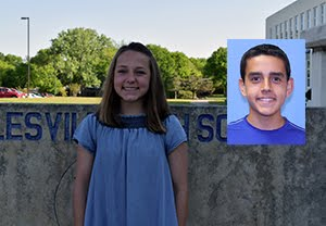 March Students of the Month Paige Sauer and James Martinez