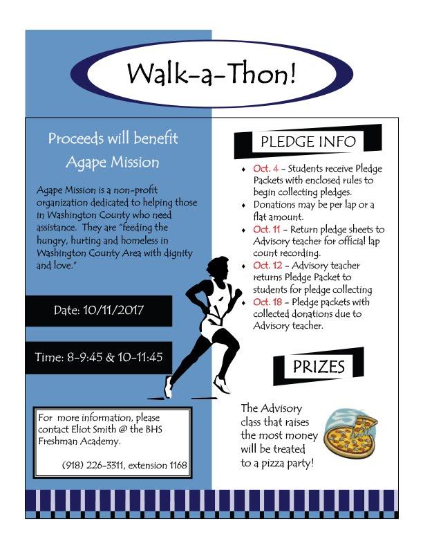 Walk-a-Thon poster