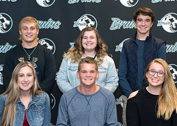 Left to right (Top to Bottom row): Blake Buoy (Senior), Chloe Maye (Senior), James Boudreaux (Sophomore, Caroline Waldorf (Junior), Noah Yearout (Junior), Brooke Bluhm (Sophomore) Students of the Month for October