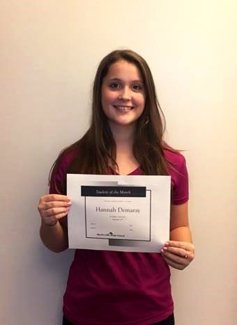Hannah Demaray Freshman Academy Student of the Month for September