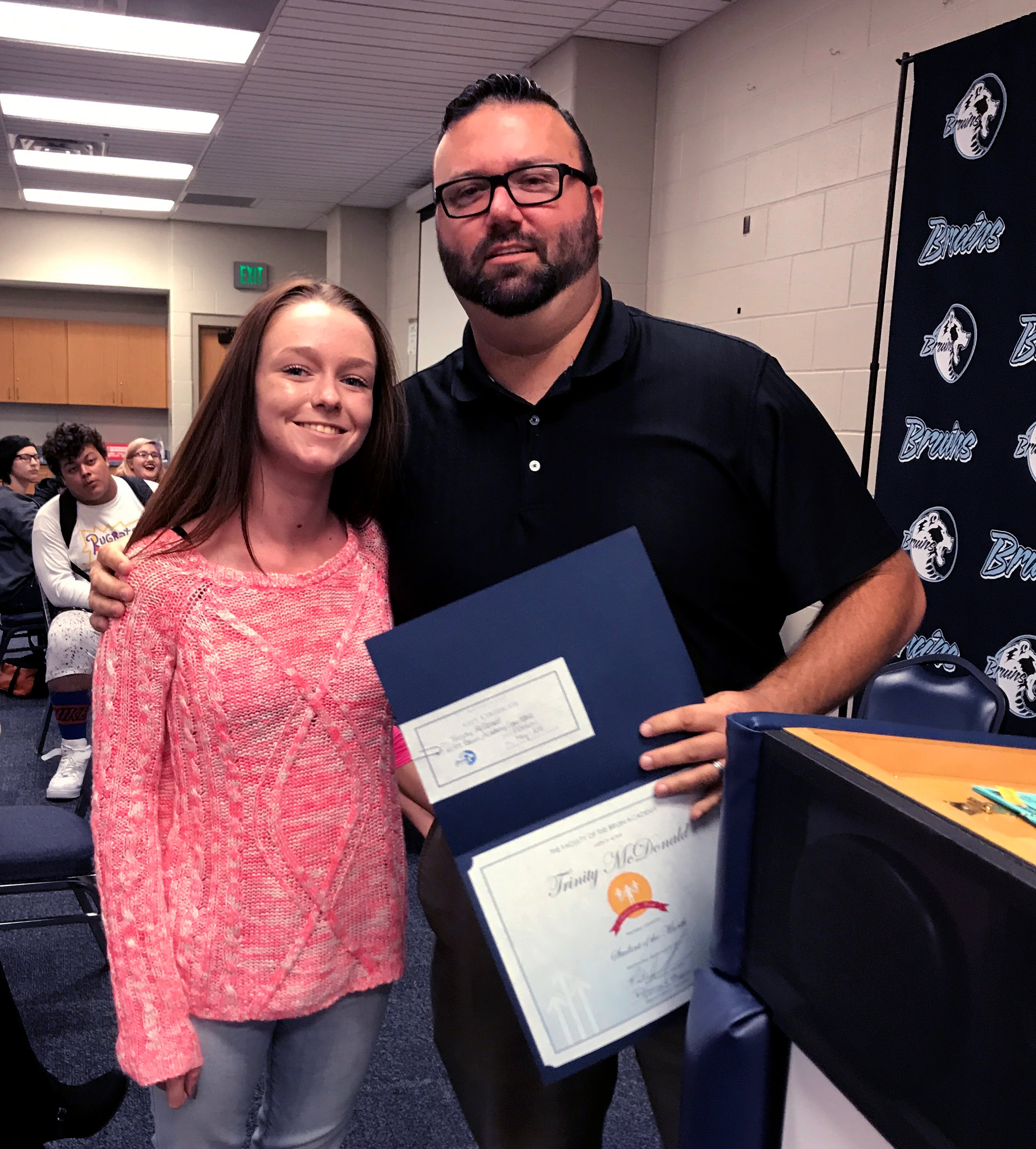 Trinity McDonald, Bruin Academy Student of the Month for September