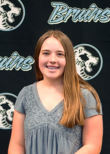 Junior, Keely Laurence, Bruin Group Student of the Month for November