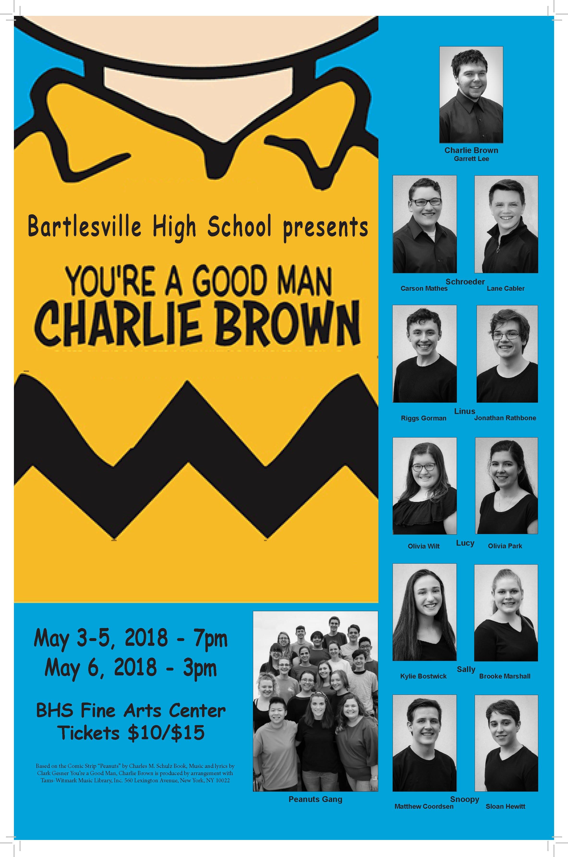 You're a Good Man Charlie Brown Musical Playbill