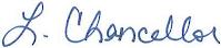 LaDonna Chancellor's Signature