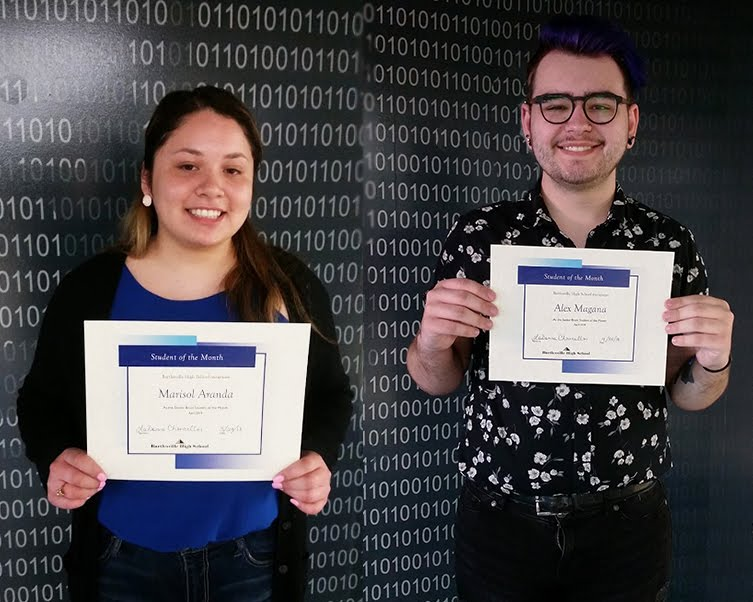 Seniors, Marisol Aranda & Alex Magana, Students of the Month for April 2018