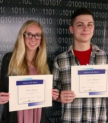 Seniors, Rilee Rigdon & Gary Hoover, Students of the Month for May 2018