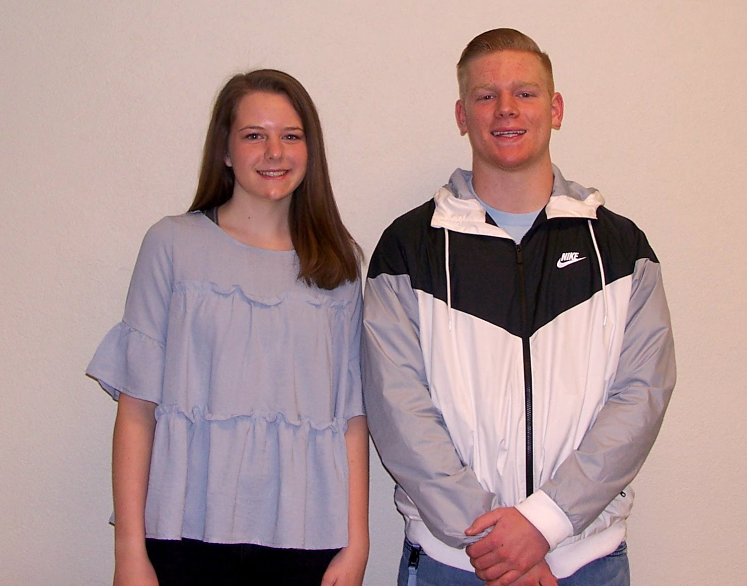 Juniors Sydney Potts and Lukas Hammack - Bruin Group Students of the Month for December 2017