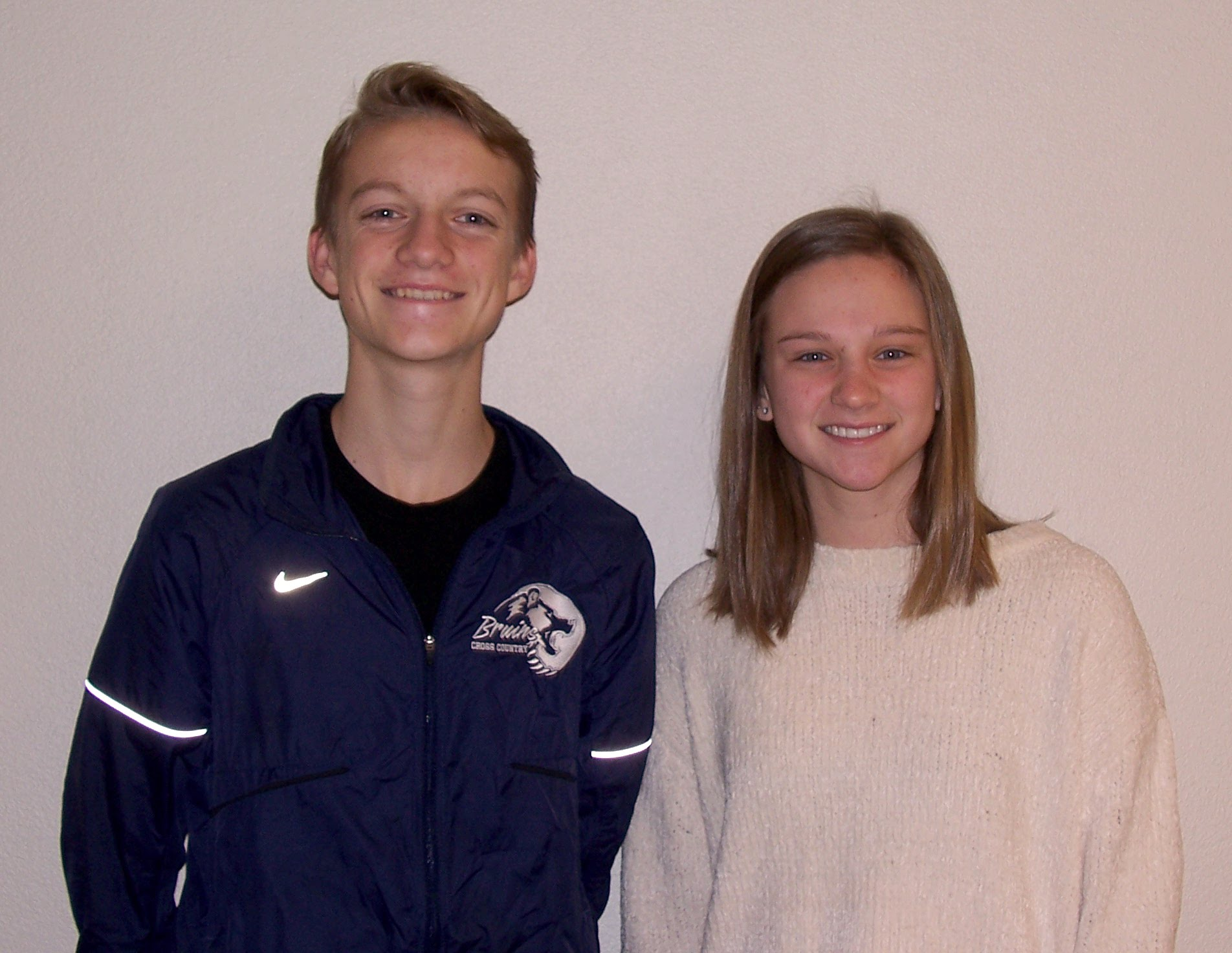 Seniors Olivia Foust and Nathan Lauritsen - Bruin Group Students of the Month for December 2017