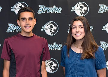 Seniors, James Martinez and Sarah Covell, Principal's Students of the Month for October