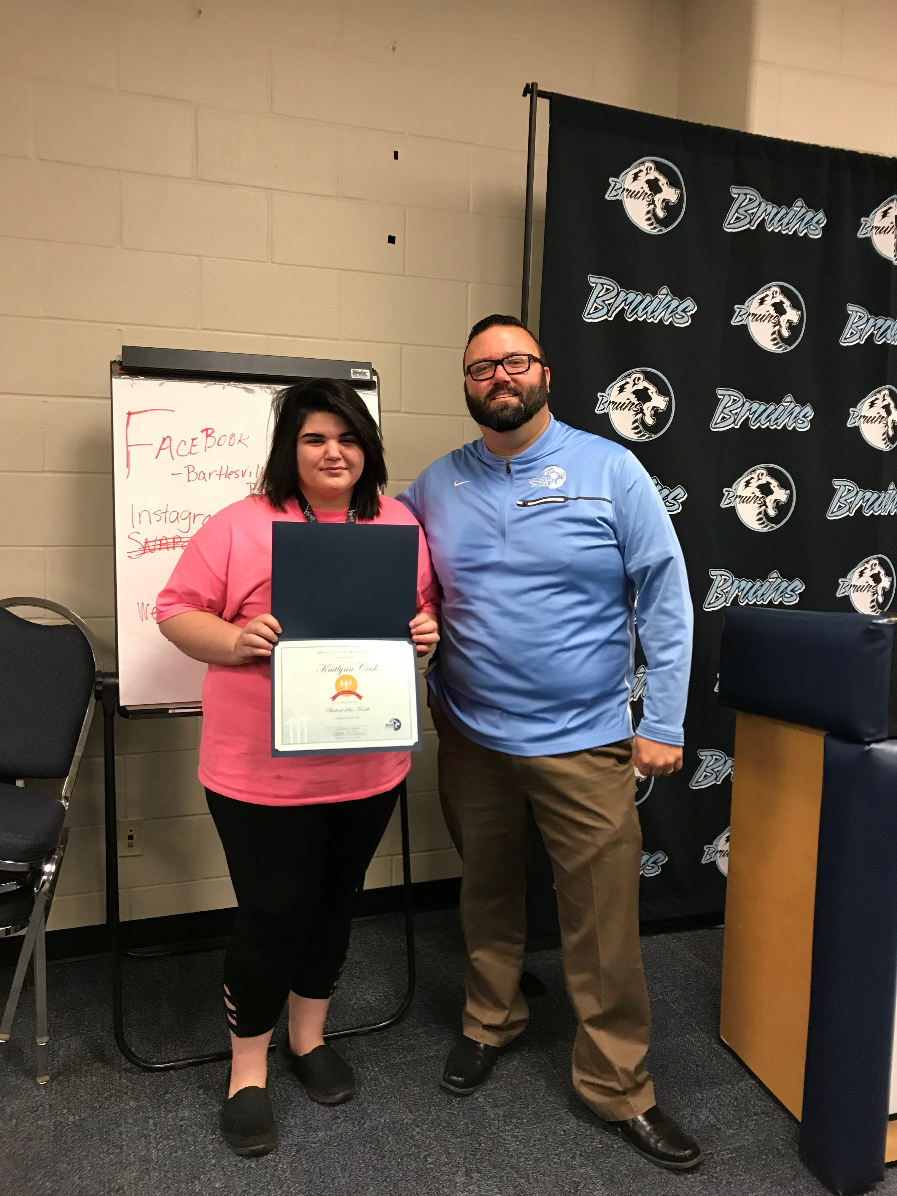 Kat Cook, Bruin Academy Student of the Month for October