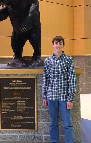 Logan Yardley, Freshman Academy Student of the Month for October