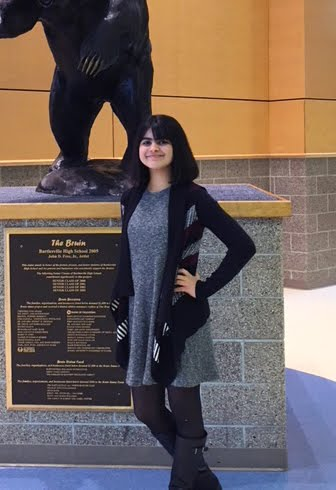 Maha Achour, Freshman Academy Student of the Month for October