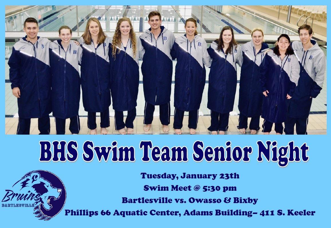 Swim Team Sr Night